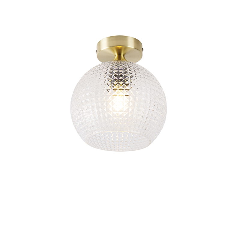 Art deco plafondlamp messing - Sphere