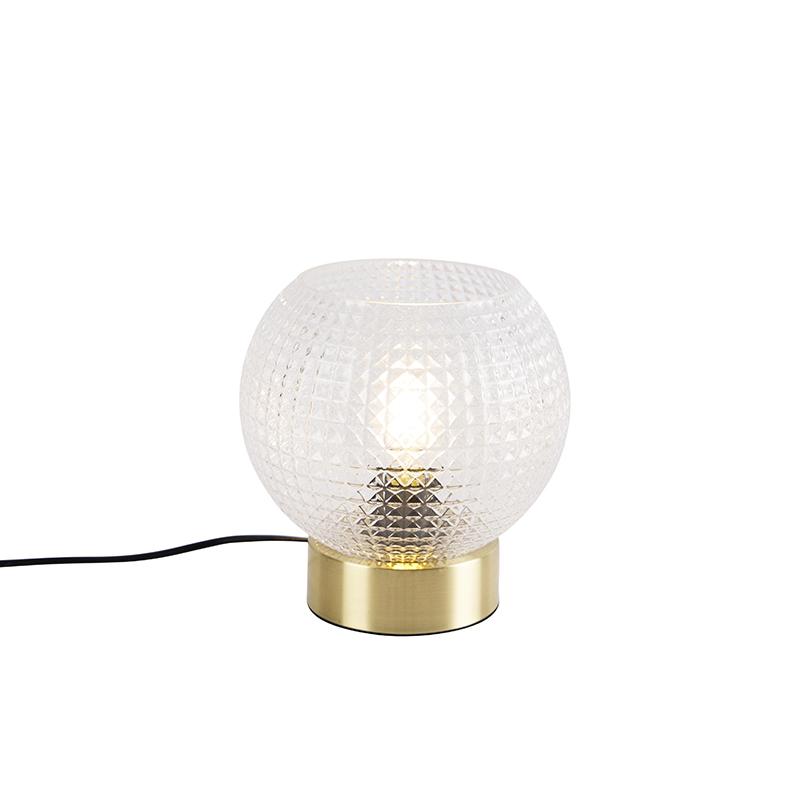 Art deco tafellamp messing - Sphere