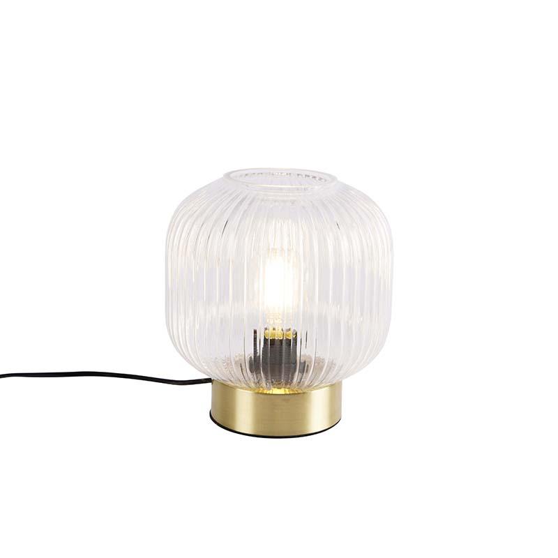 Art Deco tafellamp messing - Karel
