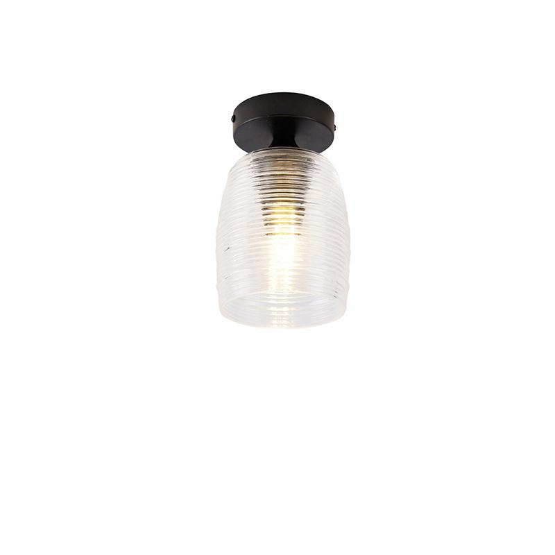 Art Deco plafondlamp zwart - Michi