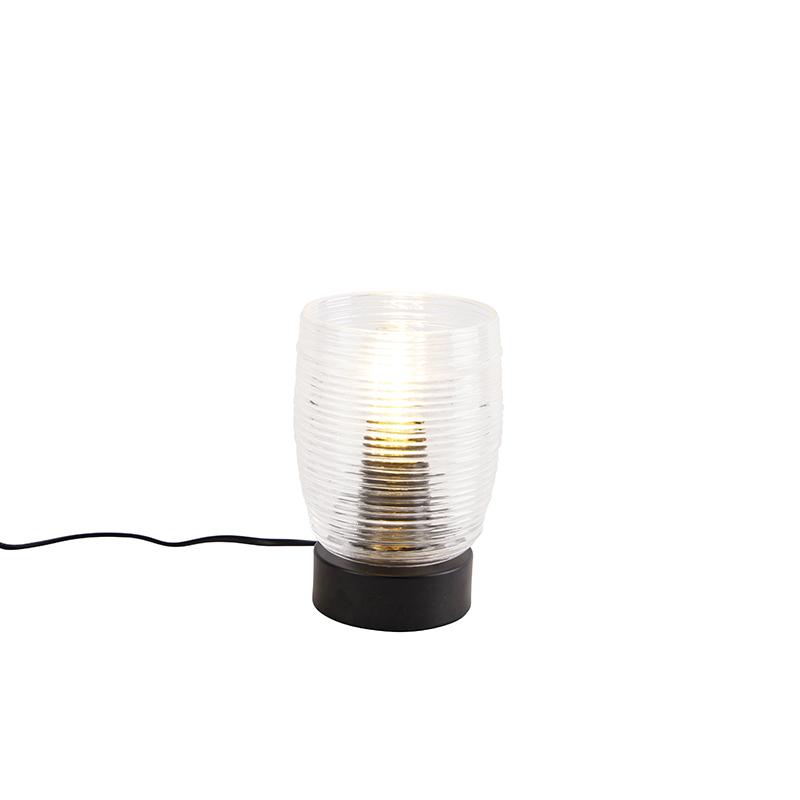 Art Deco tafellamp zwart - Michi