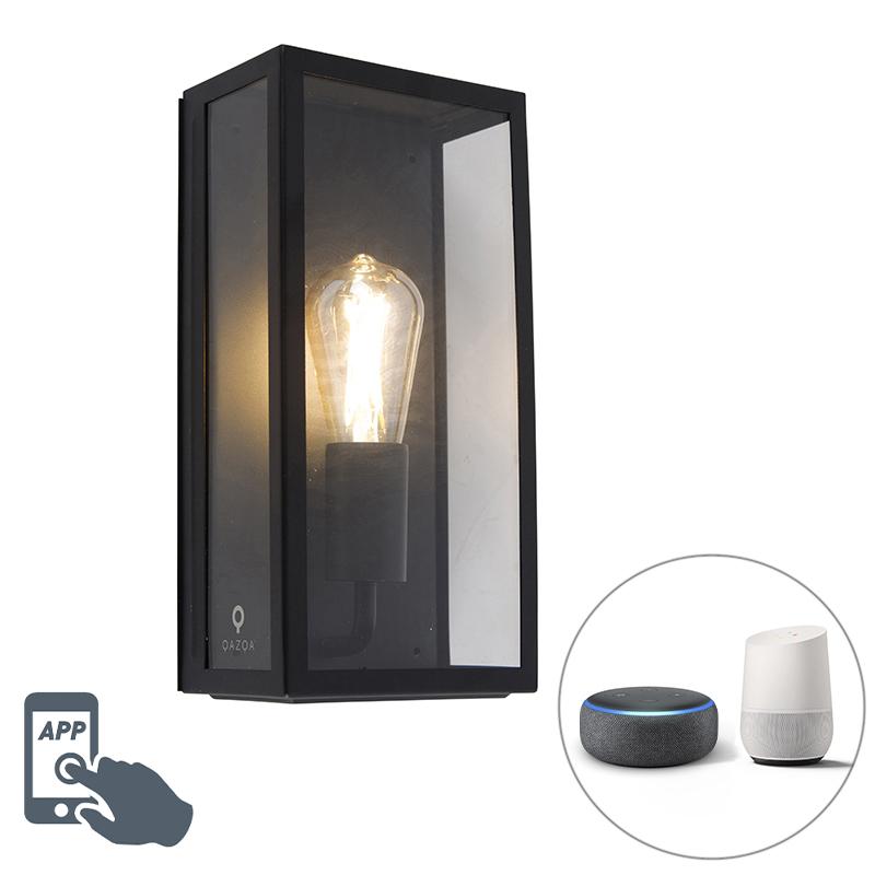 Smart buiten wandlamp zwart incl. WiFi ST64 IP44 - Rotterdam