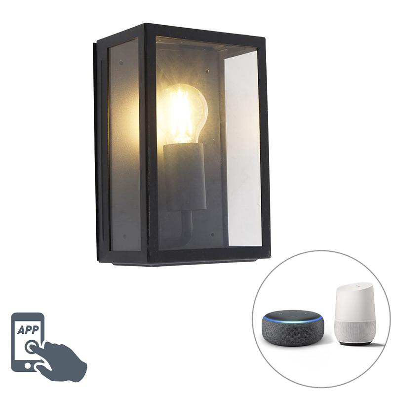 Smart buitenwandlamp zwart incl. WiFi A60 IP44- Rotterdam 2