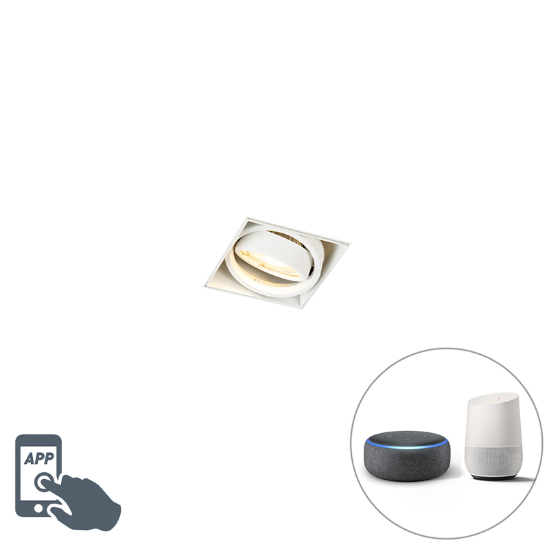 Smart inbouwspot wit trimless incl. Wifi GU10 - Oneon 1