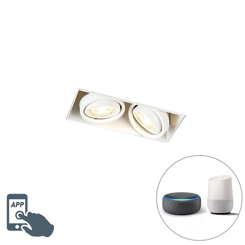 Smart inbouwspot wit trimless incl. 2 WiFi GU10 - Oneon 2