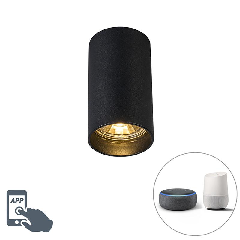Smart moderne spot zwart incl. WiFi GU10 - Tuba 1