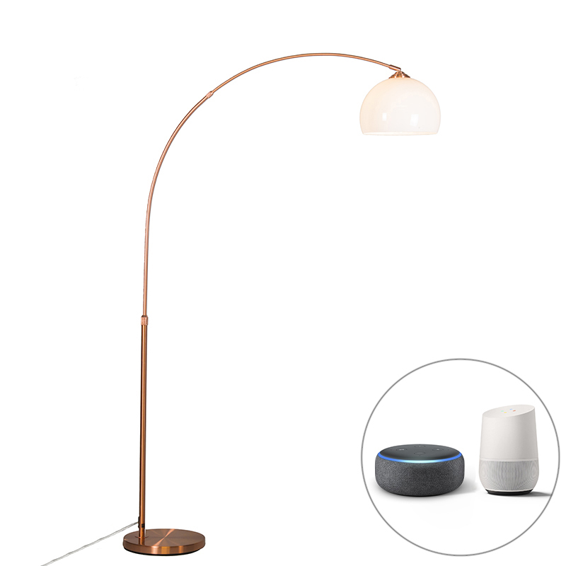 Smart booglamp koper incl. A60 Wifi - Arc Basic