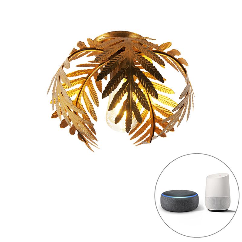 Vintage smart plafondlamp goud 24 cm incl. WiFi ST64 - Botanica