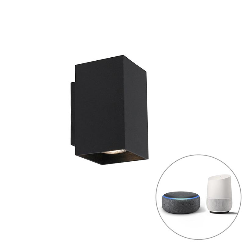 Moderne Smart wandlamp zwart incl. 2 WiFi GU10 - Sandy