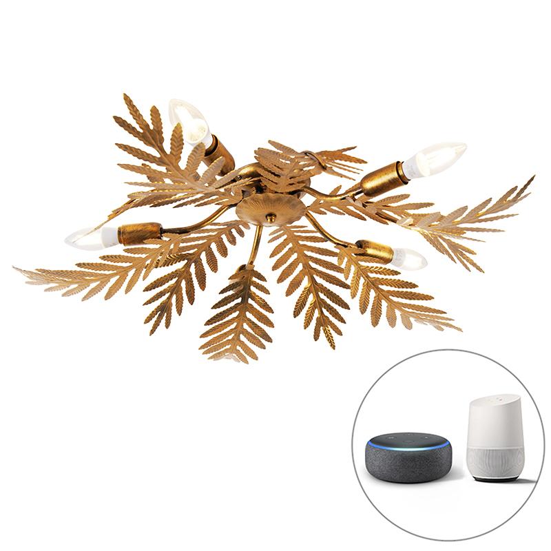 Stropné svietidlo Vintage Smart zlaté vrátane 5 WiFi E14 - Botanica