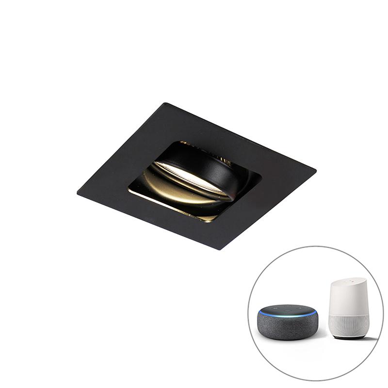 Moderne Smart inbouwspot zwart incl. WiFi GU10 - Artemis