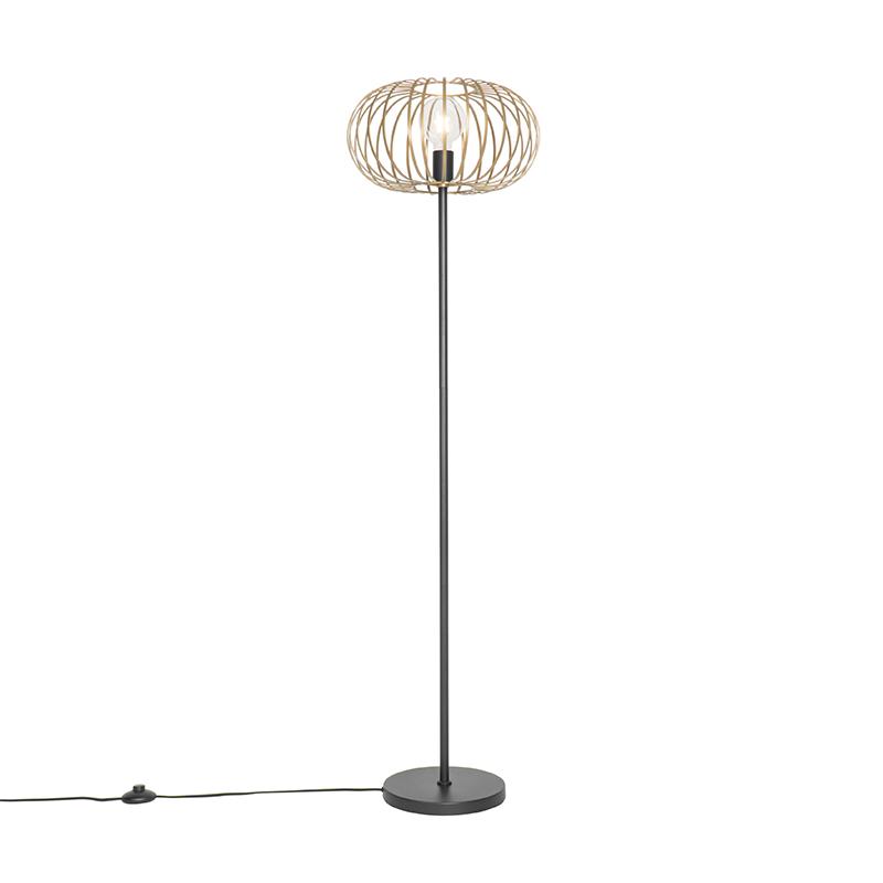 Design vloerlamp messing - Johanna