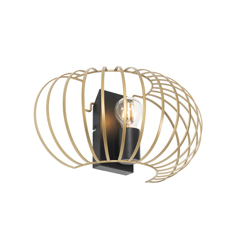 Design wandlamp messing 39 cm - Johanna