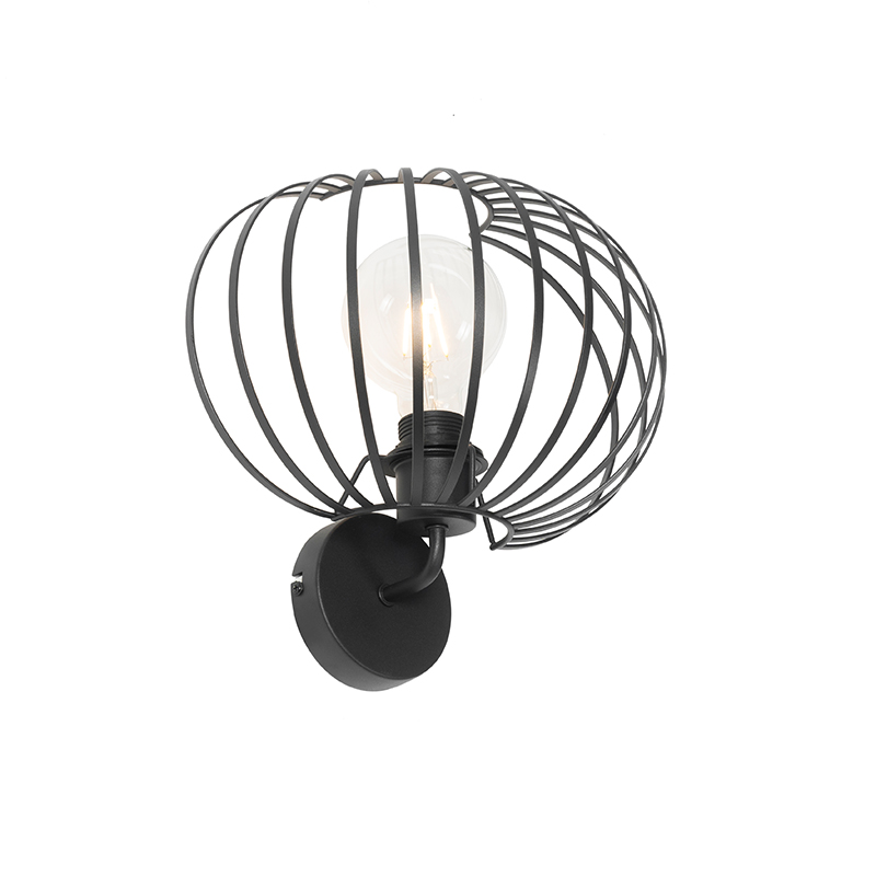 Design wandlamp zwart 30 cm - Johanna