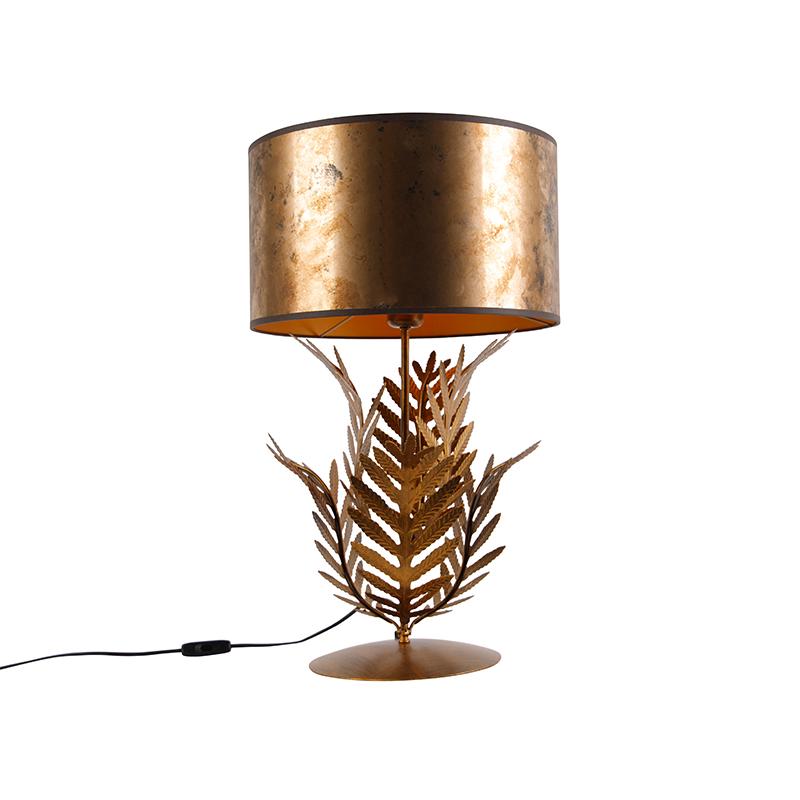 Vintage tafellamp goud met bronzen kap - Botanica