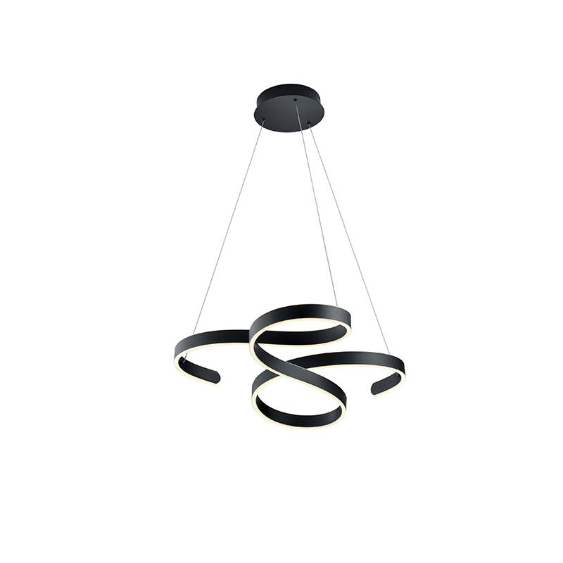 Design hanglamp grijs incl. LED 3-staps dimbaar - Frank