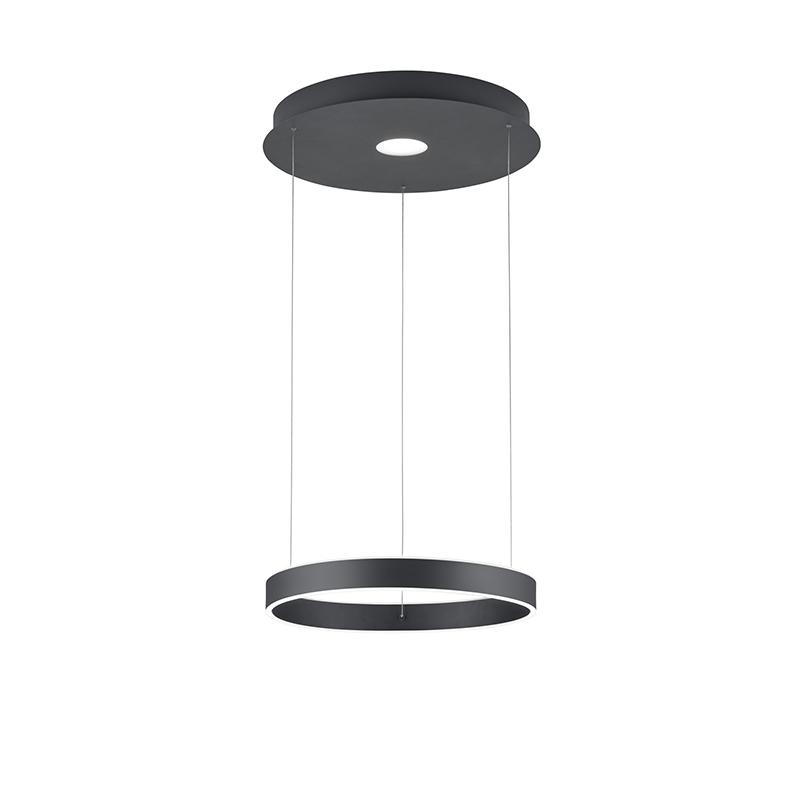 Design hanglamp grijs incl. LED 3-staps dimbaar - Jeroen