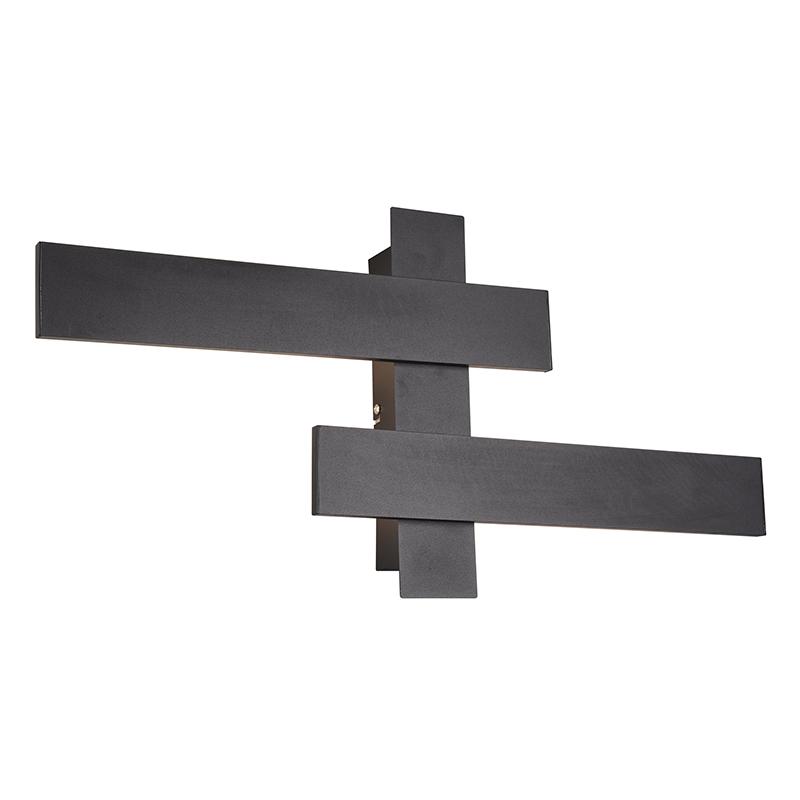 Wandlamp zwart incl. LED 3-staps dimbaar 2-lichts - Lisa