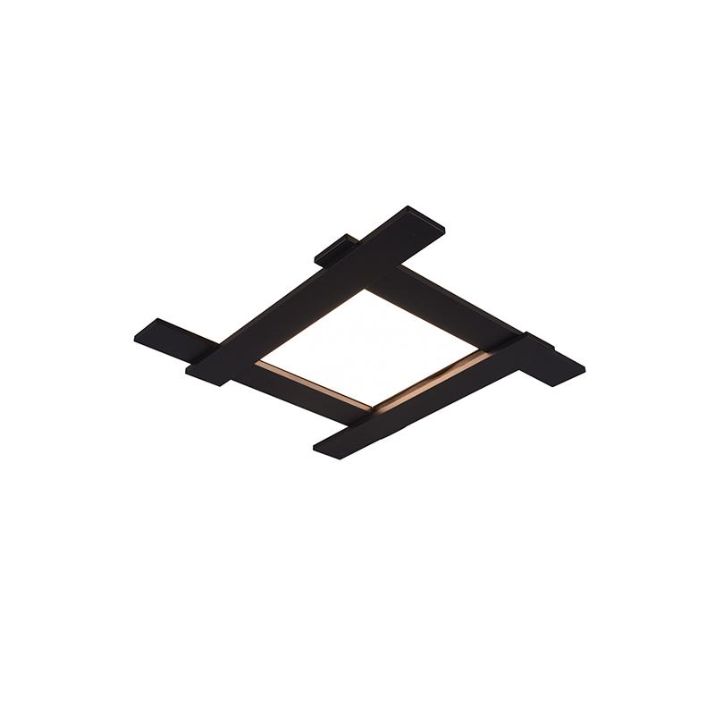 Plafondlamp zwart incl. LED 3-staps dimbaar 4-lichts - Lisa