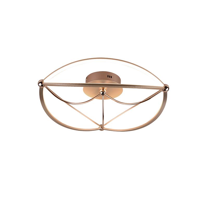 Plafondlamp messing 62 cm incl. LED 3-staps dimbaar - Jacky