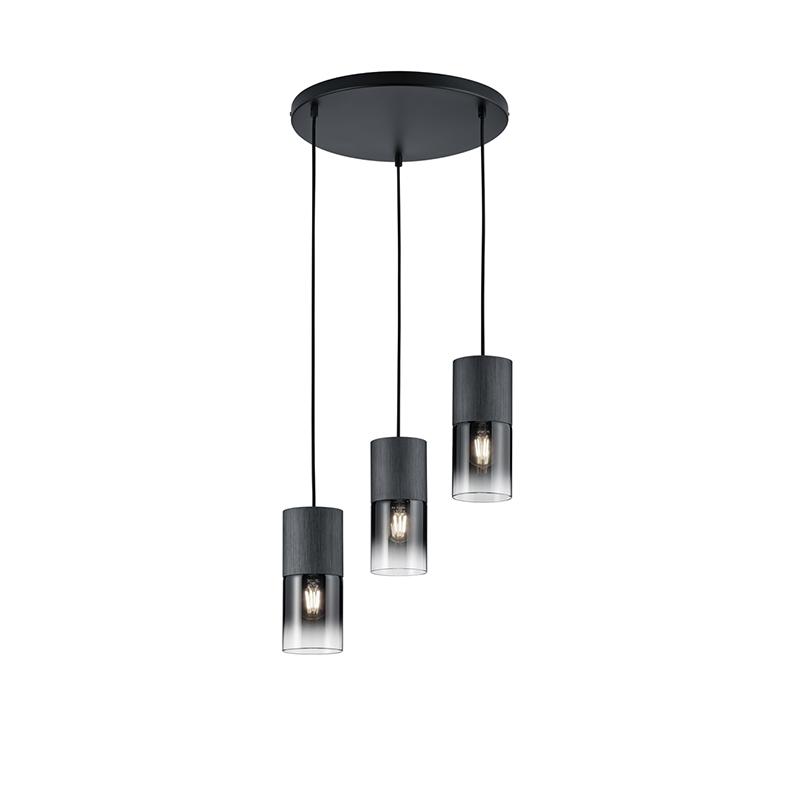 Moderne hanglamp zwart 3-lichts - Huygen