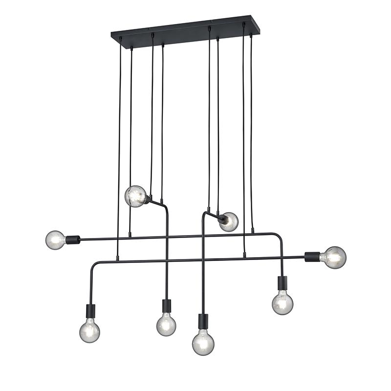 Moderne hanglamp zwart 8-lichts - Tibo