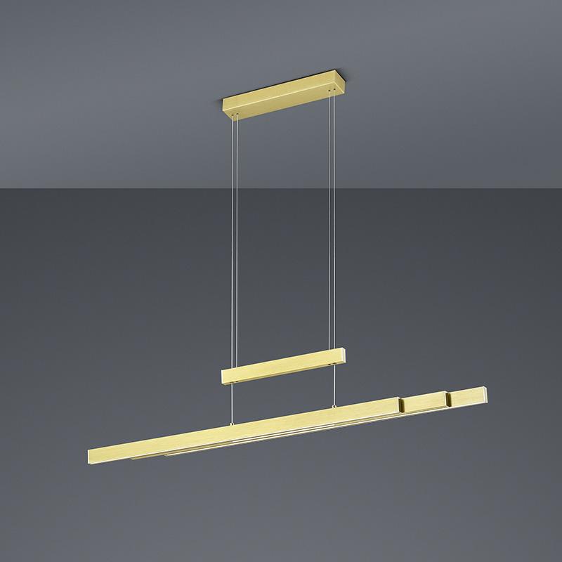 Hanglamp messing incl. LED 3-staps dimbaar 3-lichts - Sofie