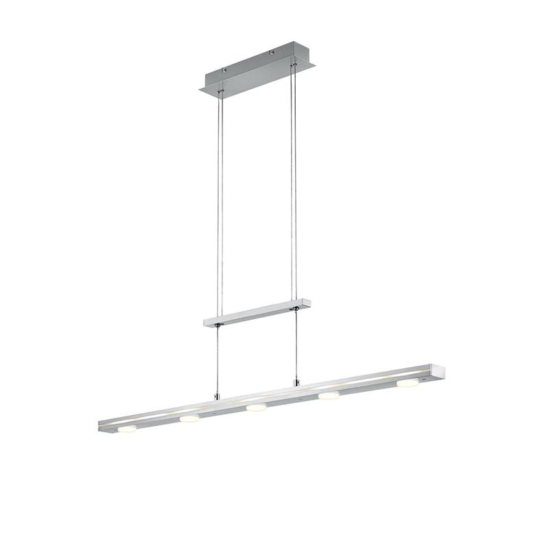 Hanglamp staal incl. LED met touch 3-staps dimbaar - Sanne