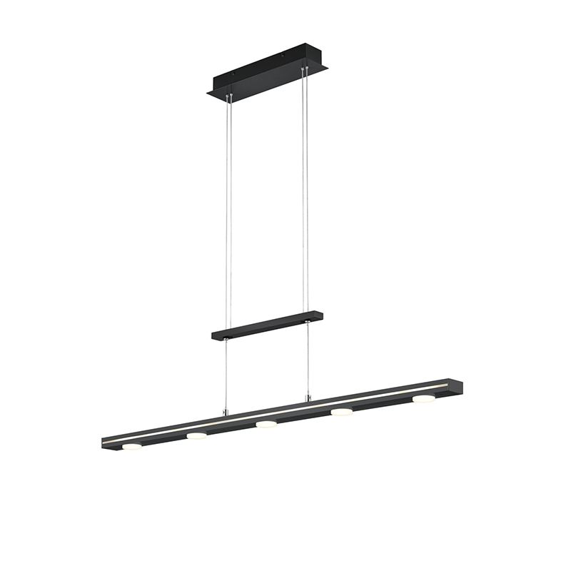 Hanglamp zwart incl. LED met touch 3-staps dimbaar - Sanne