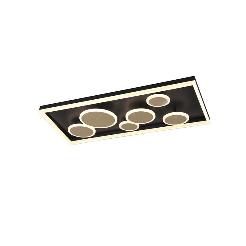 Plafondlamp zwart 80 cm incl. LED 3-staps dimbaar - Nicky