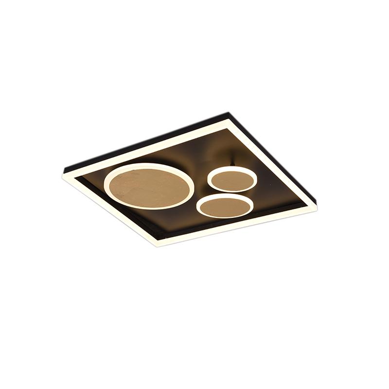 Plafondlamp zwart 60 cm incl. LED 3-staps dimbaar - Nicky