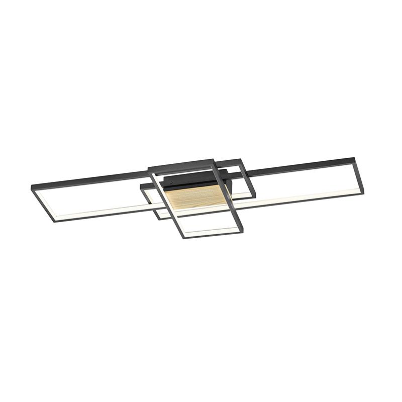 Plafondlamp zwart 104 cm incl. LED 3-staps dimbaar - Amal