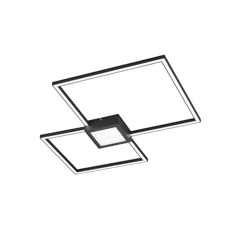 Plafondlamp grijs incl. LED 3-staps dimbaar - Cindy