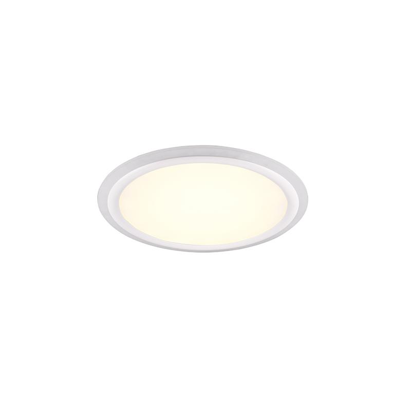 Plafondlamp wit 50 cm incl. LED RGB afstandsbediening - Anke