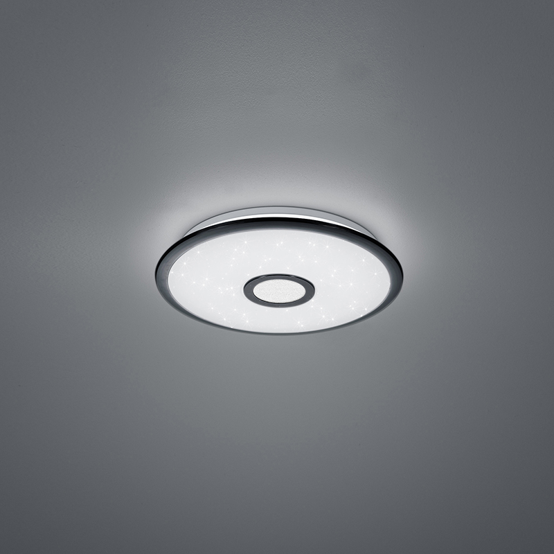 Plafondlamp zwart 42 cm Incl. LED met afstandsbediening - Bente