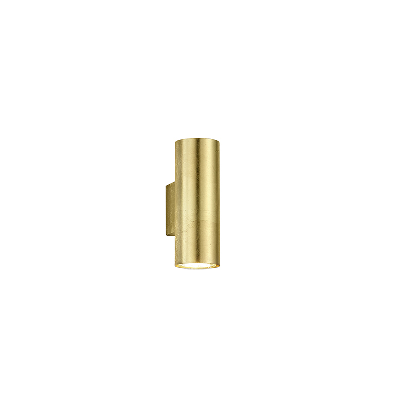 Moderné nástenné svietidlo zlaté 2-žiarovkové - Duo Loko
