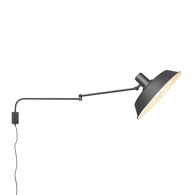 Wandlamp zwart verstelbaar met schakelaar - Danielle