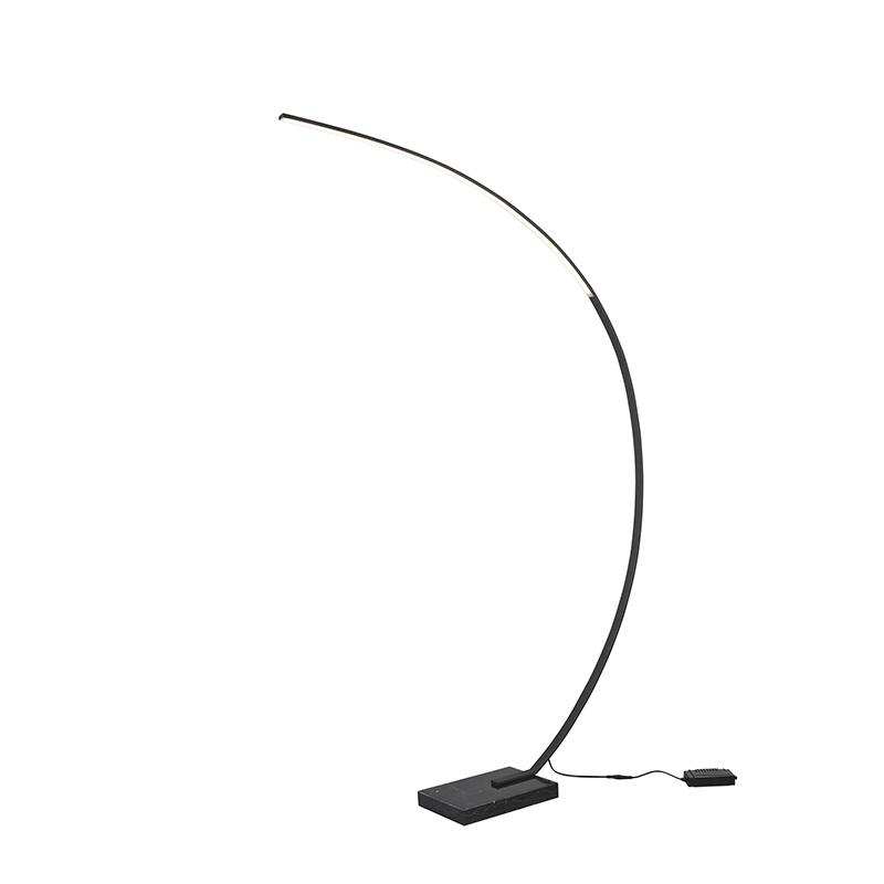 Design vloerlamp zwart incl. LED dimbaar - Dina