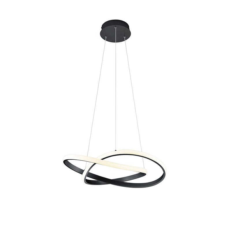Hanglamp zwart incl. LED 3-staps dimbaar - Koers