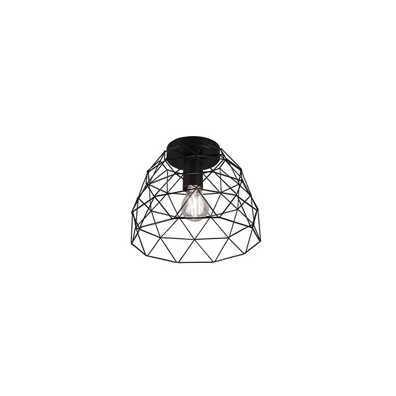 Moderne plafondlamp zwart 27 cm - Jaap