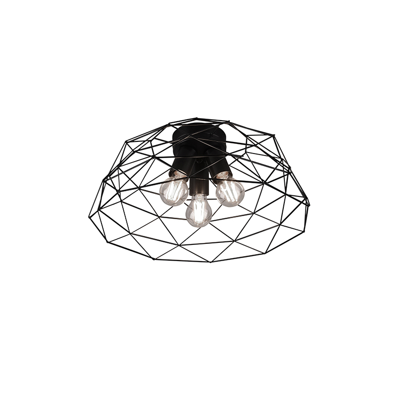 Moderne plafondlamp zwart 45 cm - Jaap