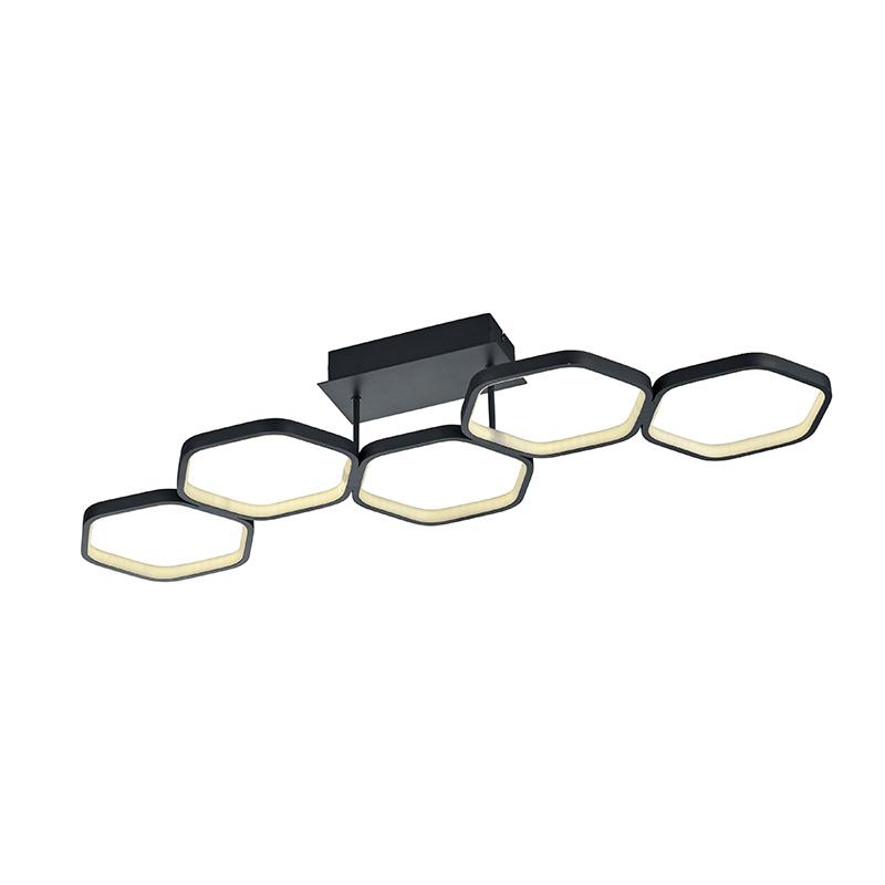 Plafondlamp grijs incl. LED 3-staps dimbaar - Jetse