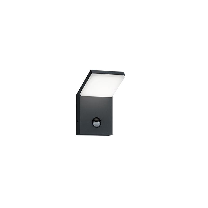 Wandlamp grijs incl. LED IP54 met bewegingsmelder - Marian