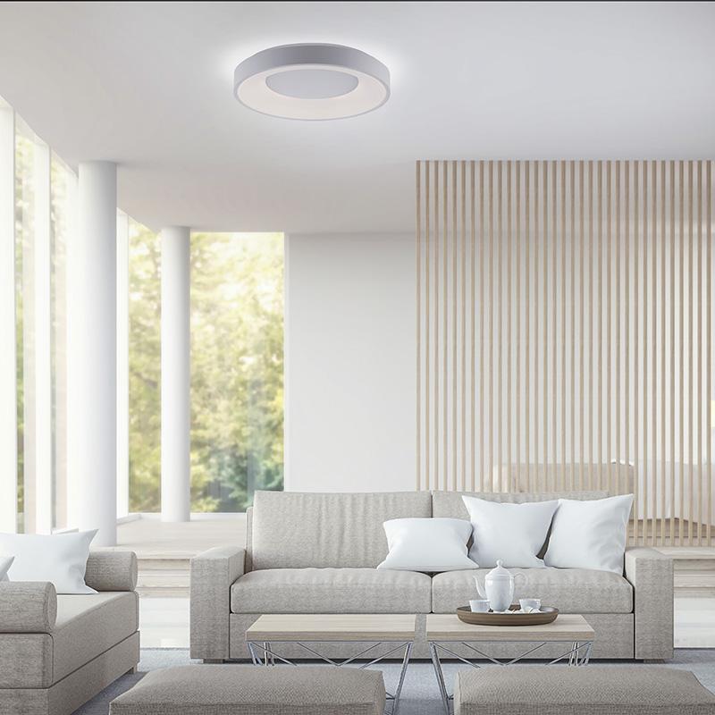 Moderne plafondlamp wit incl. LED 3-staps dimbaar - Steffie