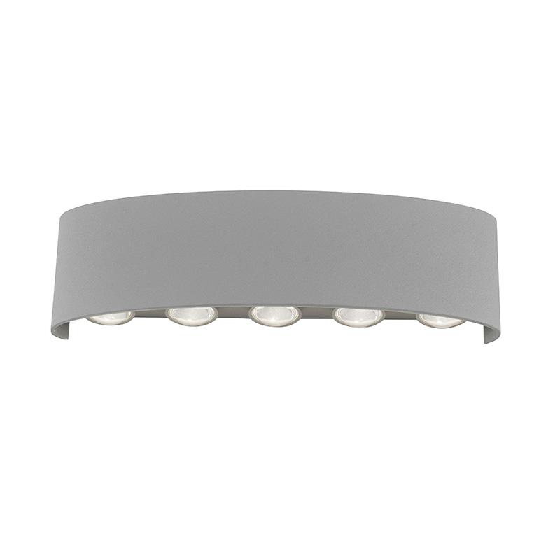 Moderne wandlamp grijs 27 cm incl. LED IP54 - Wendy