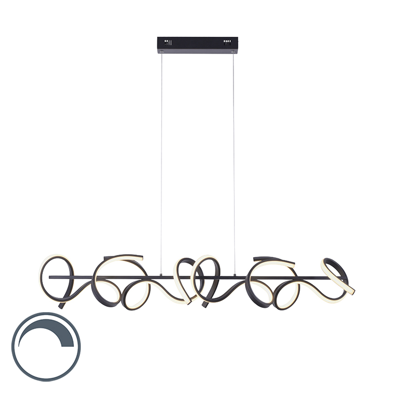 Design hanglamp zwart incl. LED en dimmer - Krisscross