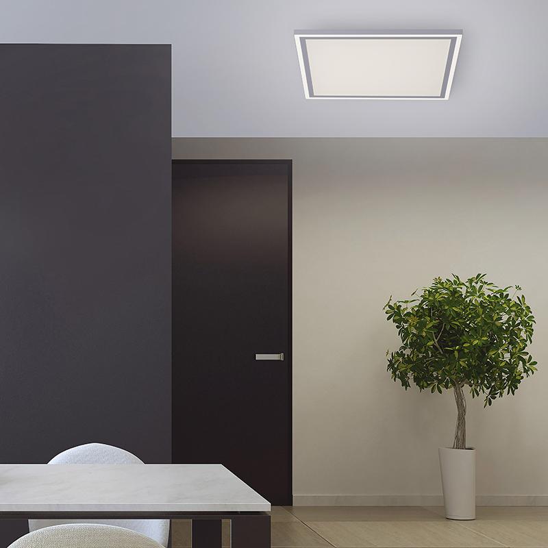 Plafondlamp wit 46 cm incl. LED en afstandsbediening - Luntani