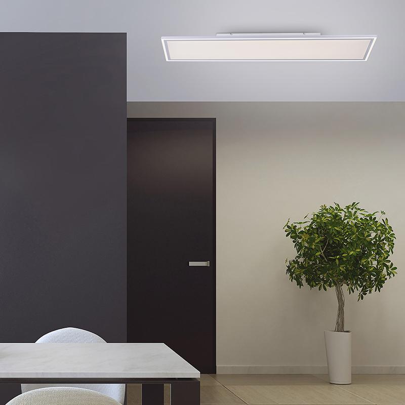 Plafondlamp wit 121 cm incl. LED en afstandsbediening - Luntani