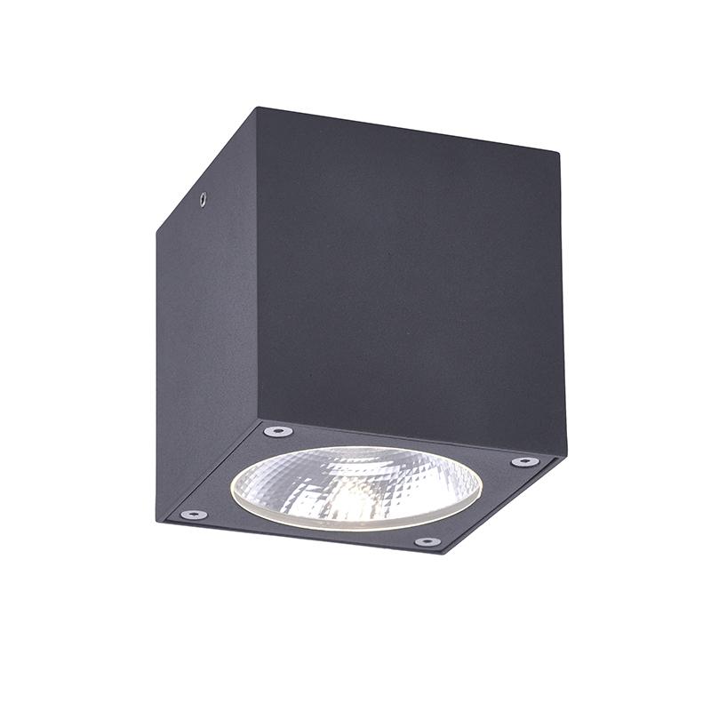 Moderne spot grijs vierkant incl. LED IP54 - Domi