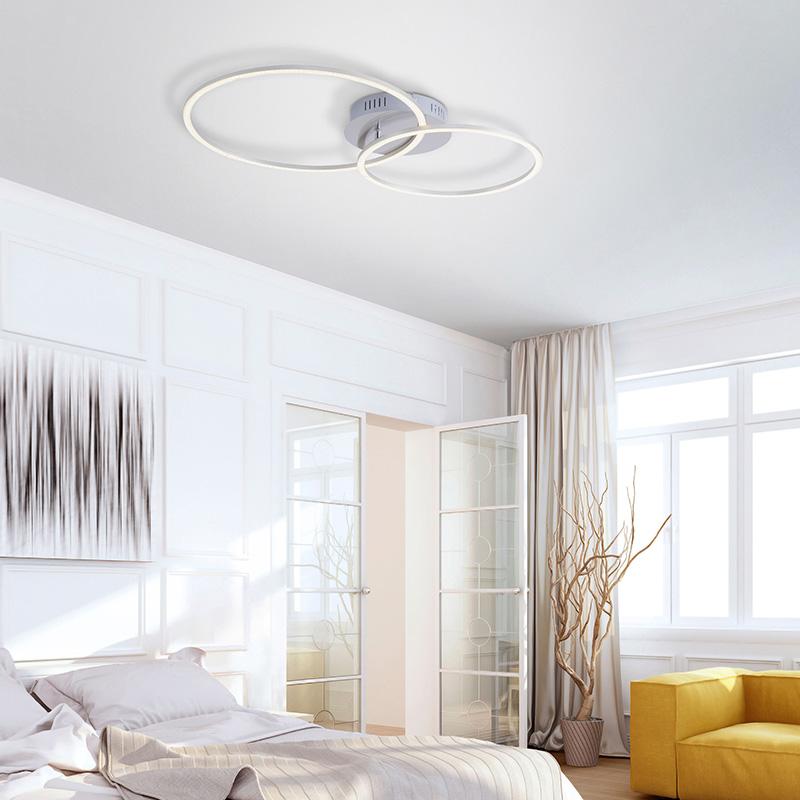 Plafondlamp wit incl. LED en dimbaar 2-lichts - Julka